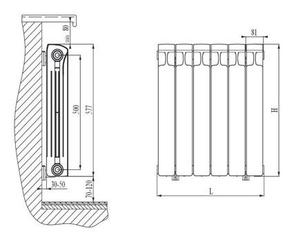 биметаллических радиаторах